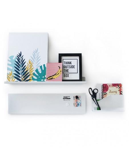 Combo home office pizarra estante y organizador de oficina