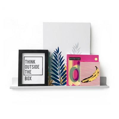 estante minimalista para cuadros y deco repisa metalica diseño Muett