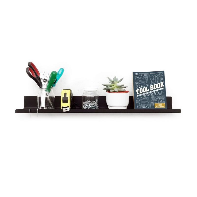 estante de chapa line para cuadros decoracion repisa diseño Muett estanteria living dormitorio industria argentina libros