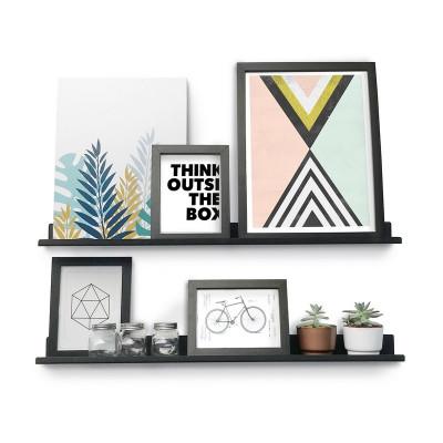 par de estantes para cuadros diseño Muett