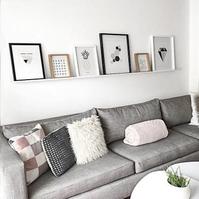 estante para cuadros y deco living diseño Muett