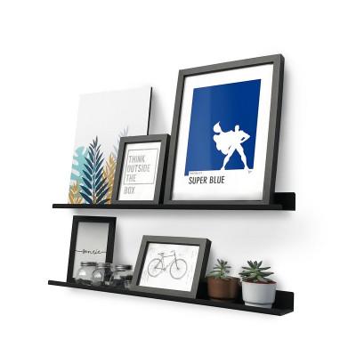 estante de chapa line para cuadros y deco diseño Muett