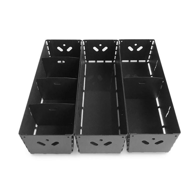 combo canasto con divisores organizador de cajones diseño Muett caja para cocina original industria argentina metal chapa acero