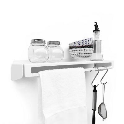 repisa metalica diseño Muett estante toallero especiero