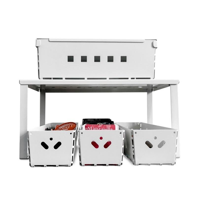 combo organizador de cocina y alacena diseño Muett estante canasto caja