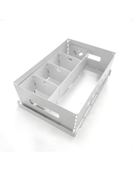 caja con canasto metalicos diseño Muett organizadores