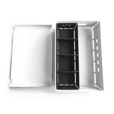 caja de chapa y canasto organizador diseño Muett