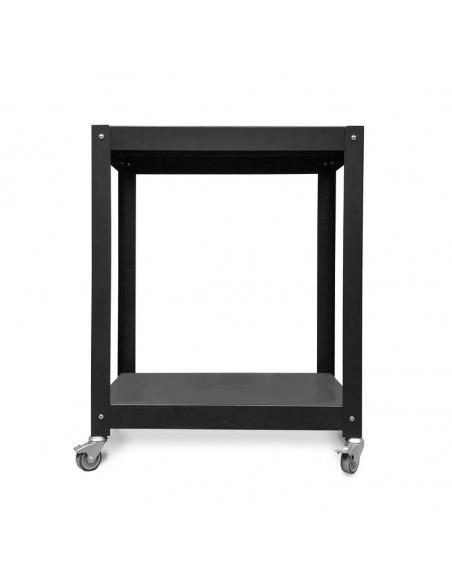 mesa metálica con ruedas complementaria de diseño muett