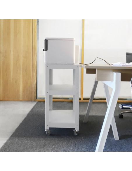 mesa auxiliar impresora de diseño con ruedas Muett
