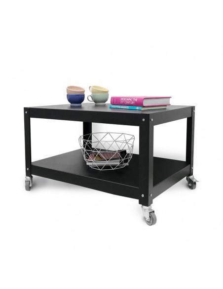 mesa ratona metalica con ruedas Diseño Muett