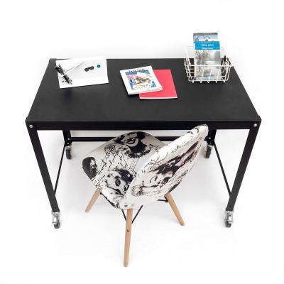 escritorio metalico con ruedas de diseño moderno Muett