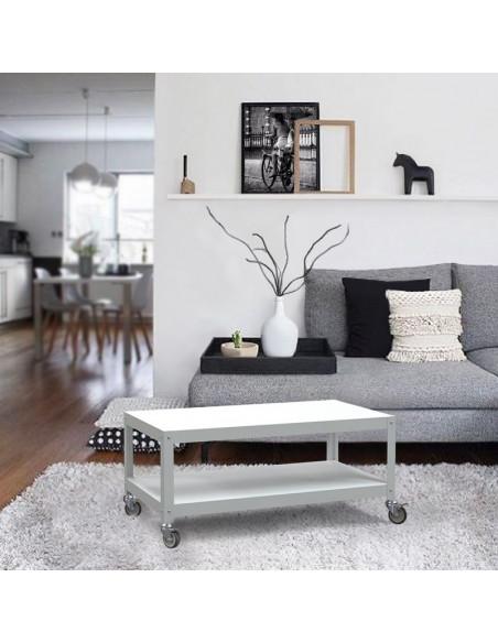 mesa de living con ruedas funcional diseño Muett