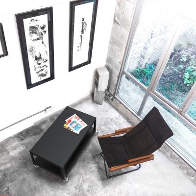mesa metalica con ruedas diseño Muett muebles funcionales