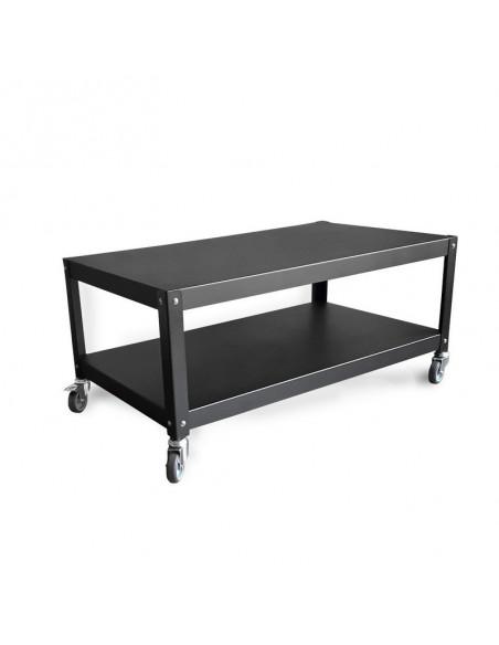 mesa ratona con ruedas de diseño Muett muebles metalicos