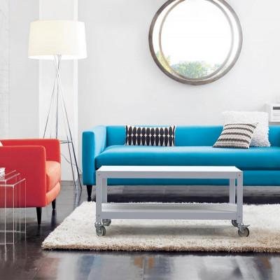 mesa de diseño con ruedas muebles metalicos Muett