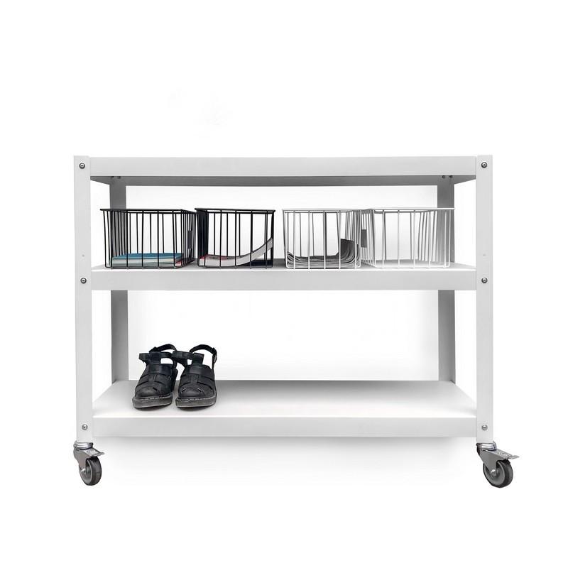 mesa auxiliar con ruedas mueble metalico diseño Muett