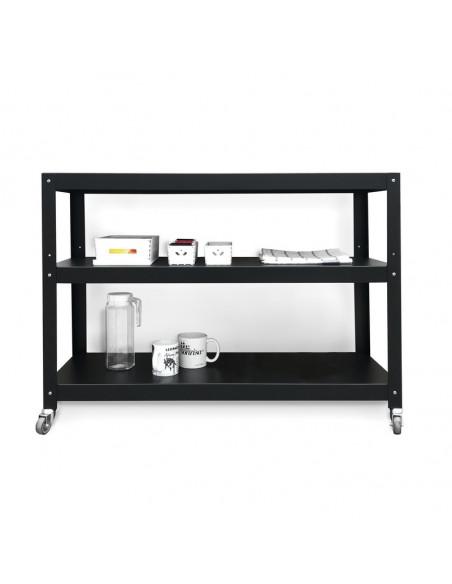 mesa con ruedas de diseño minimalista funcional Muett