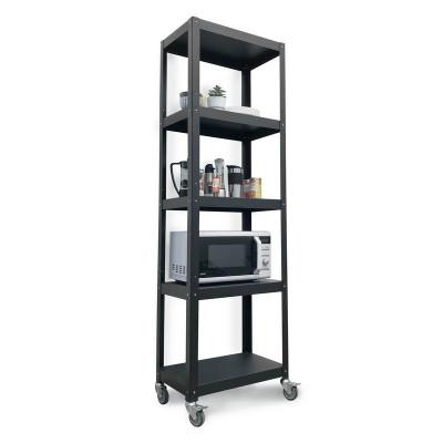 estanteria con ruedas mueble metalico minimalista de diseo moderno Muett