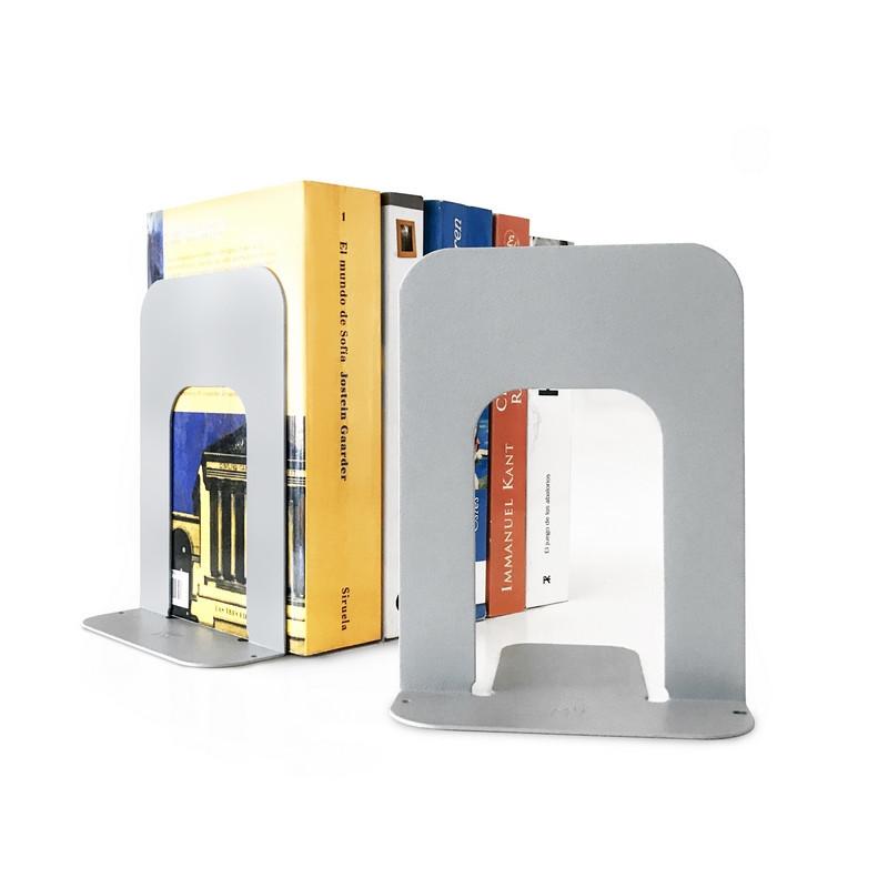 sujeta libros soporte para biblioteca organizador de chapa metalico diseño original minimalista Muett