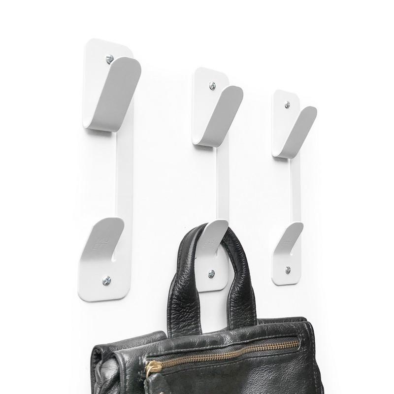 colgador de pared gancho perchero fun de colores chapa metal acero originales diseño muett industria argentina