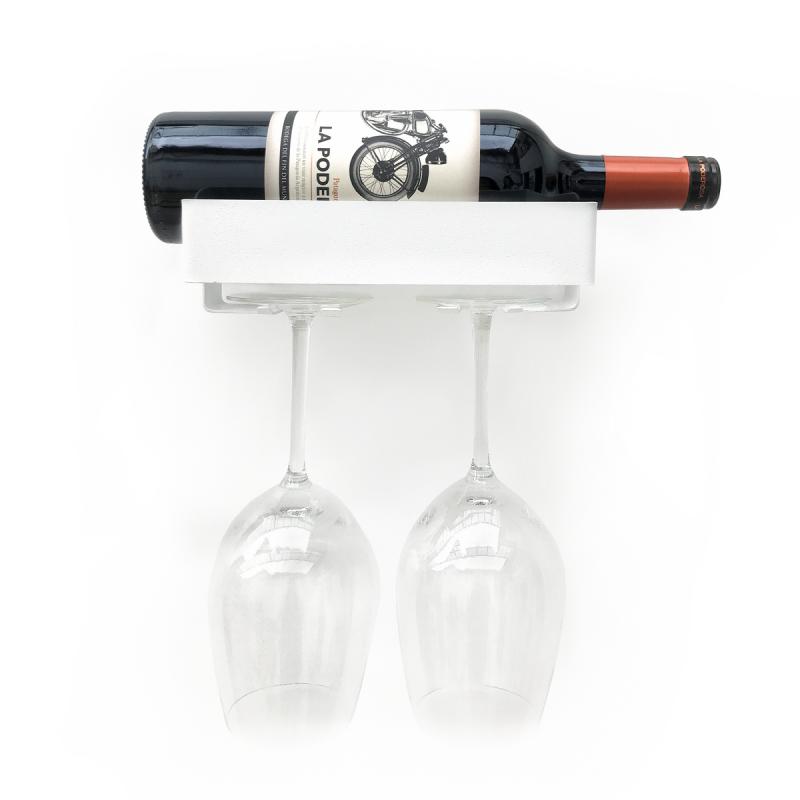 bodega sabado porta copas copero soporte vinos repisa diseño metalico regalo original Muett