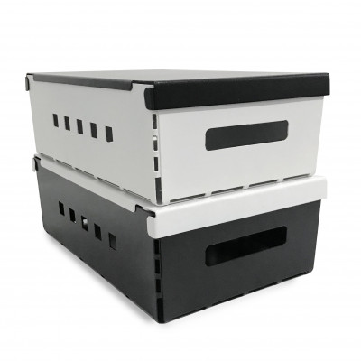 set x 2 cajas metalicas kip de diseño resitentes organizador Muett
