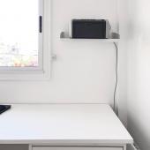 Hay cosas muy simples que podes hacer en tu #espacio para estar más cómod@ sobre todo para lidiar con #objetos volumétricos y pesados IMPRESORAS, LIBROS, CAJAS ,CAFETERAS poné todo en la pared con un estante FIT .  MUETT.COM  #design #diseño #interior #interiorismo #interiorism #shelf #estante #estanterias #organizar #homeoffice #oficinaencasa #oficina